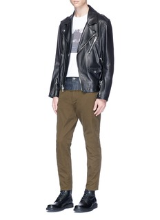 Dsquared2 Raw denim panel twill pants