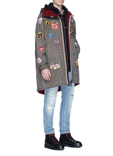 Dsquared2 x K-Way mixed badge reversible hooded parka