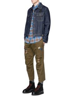 Dsquared2 'Dan' check plaid flannel shirt