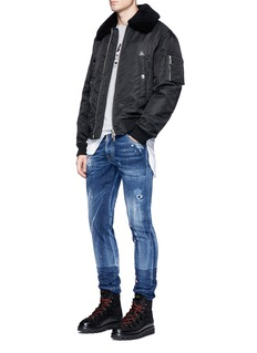 Dsquared2 'Cool Guy' floral embroidered distressed jeans