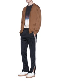Maison Margiela Stripe outseam pintucked jogging pants