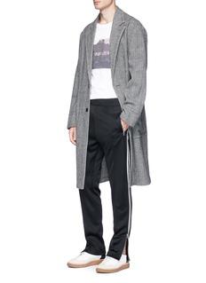 Maison Margiela Virgin wool-cashmere herringbone coat