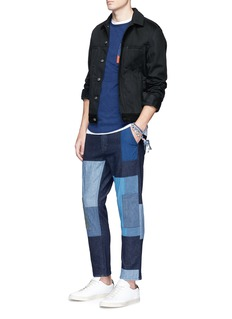 FDMTL Boro patchwork raw denim pants