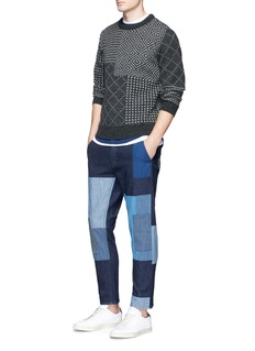 FDMTL Sashiko jacquard wool sweater