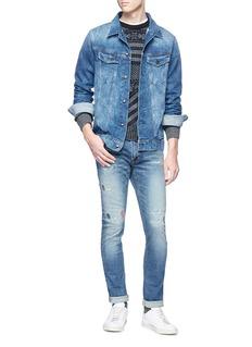 FDMTL Sashiko patchwork skinny fit jeans
