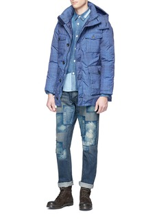 FDMTL Boro patchwork slim fit jeans