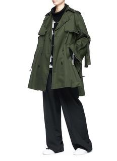 Ports 1961 Frayed twill trench coat