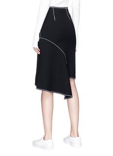 Ports 1961 Asymmetric crepe pencil skirt