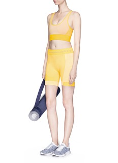 Adidas By Stella Mccartney 'Yoga' ribbed climalite® performance shorts