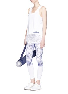 Adidas By Stella Mccartney 'Run' Sprintweb print climacool® and climalite® performance tights