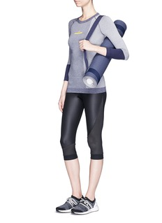Adidas By Stella Mccartney 'Training' climacool® and mesh three quarter performance tights