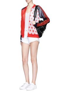 Adidas'Osaka' colourblock polka dot print mesh track jacket