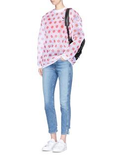 Adidas 'Osaka' polka dot print mesh sweatshirt