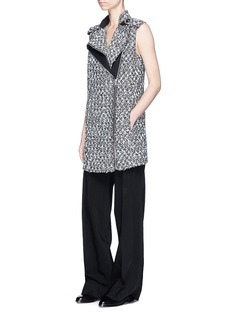 Lanvin Frayed tweed biker vest