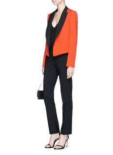 Lanvin Colourblock cropped wool suiting jacket