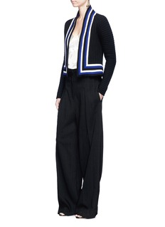 Lanvin Stripe trim wool cardigan