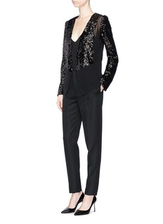 Lanvin Sequin panel silk chiffon jacket