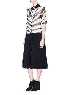 Lanvin Zebra print silk chiffon dress