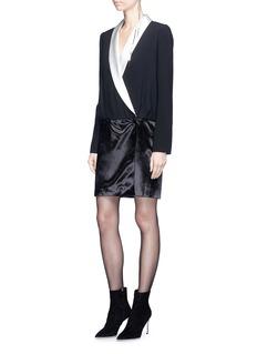 Lanvin Contrast lapel wrap dress