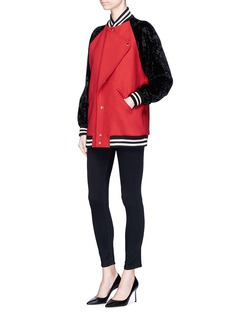 Lanvin Colourblock oversized teddy jacket