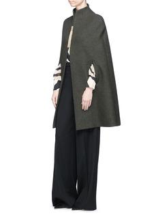 LANVIN 斑马纹真丝绉绸衬衫