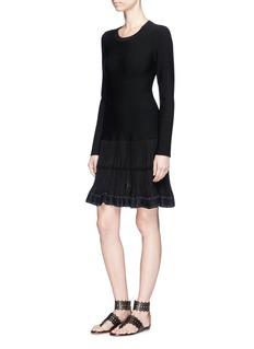 Alaïa 'Mambo' plissé effect panel knit dress