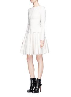 Alaïa 'Lotus' scalloped jacquard knit skirt