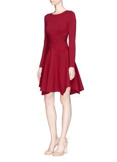 ALAÏA PASO DOBLE不对称混羊毛针织连衣裙