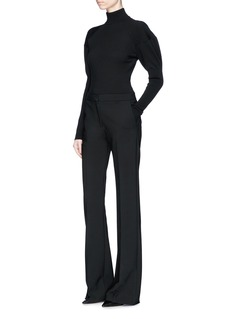 Alaïa Balloon sleeve turtleneck knit bodysuit