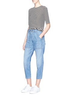 Vince 'Patch Front Utility' drawstring denim pants