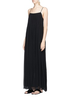 Vince Pintuck silk chiffon maxi dress