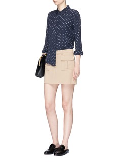 Vince Abstract dot print silk shirt