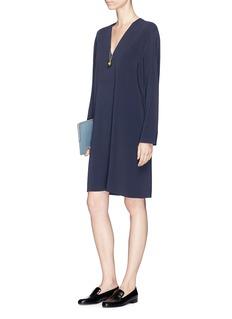 VinceV-neck crepe tunic dress