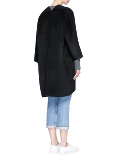 VinceReversible open front wool-cashmere cardigan