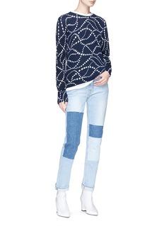 Equipment 'Sloane Crew' star intarsia cashmere sweater