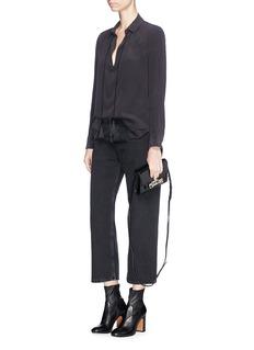 Equipment'Bristol' tassel neck tie silk crepe shirt