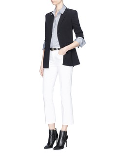 Equipment 'Arlette' extended cuff stripe poplin shirt