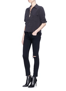 Equipment 'Knox' lace-up silk crepe shirt
