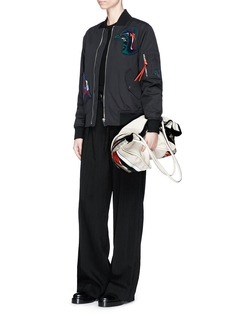 Proenza Schouler Custom artwork patch bomber jacket