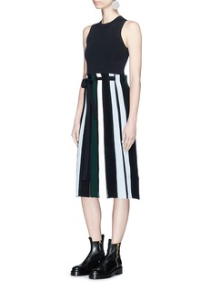 Proenza Schouler Stripe ottoman and pointelle knit sleeveless dress