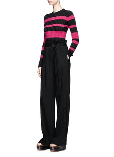 Proenza Schouler Stripe wool blend rib knit sweater