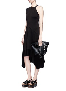 Proenza Schouler Asymmetric shoulder flared jersey dress