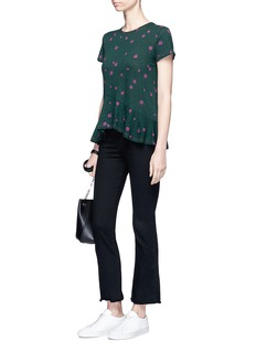 Proenza Schouler Rocket sunflower print asymmetric T-shirt