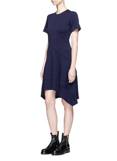 Proenza Schouler Asymmetric wool blend jersey dress
