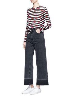 Proenza Schouler Ikat stripe print long sleeve T-shirt