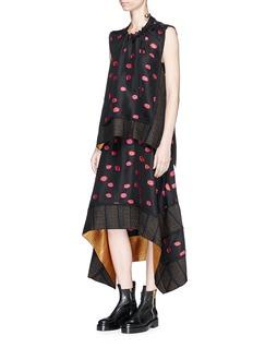 Proenza SchoulerIkat dot fil coupé jacquard skirt