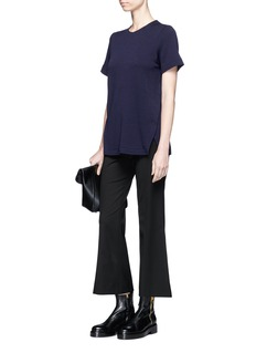 Proenza Schouler Petersham ribbon wool blend T-shirt