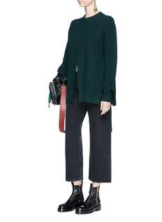 Proenza Schouler Front slit wool blend sweater
