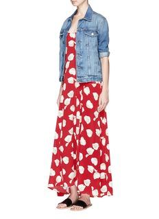 Theory 'Palushaj' tie back harper print crepe maxi dress