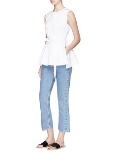 Theory 'Desza' belted poplin sleeveless top